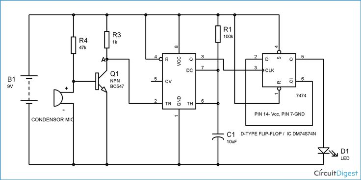 Clap On Clap Off Switch Circuit Diagram   Electronic