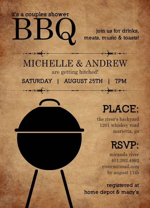 7 best Cookout Party images on Pinterest Cards, Create - free engagement party invites