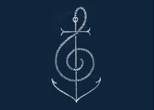 anchor/music note