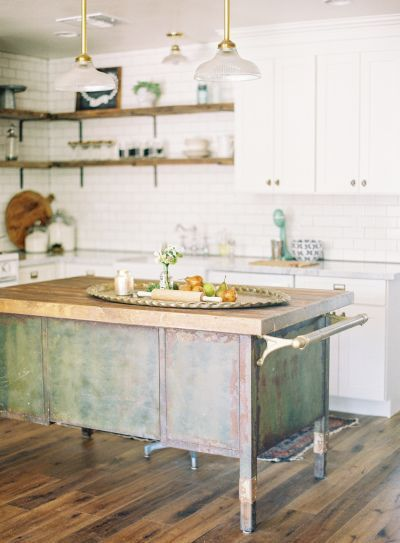 Rustic white kitchen: http://www.stylemepretty.com/collection/2955/