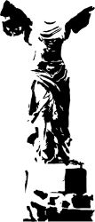 Nike of Samothrace statue sticker by fantastick wall art #fantastick #onyourwall #wallart #sticker #home #deco
