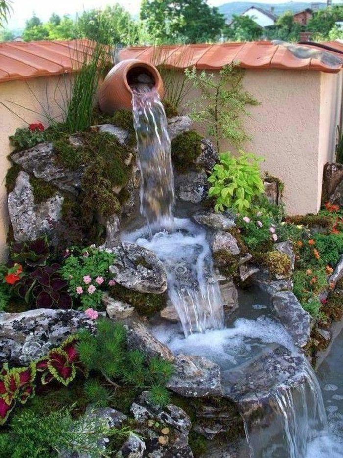 Die 25+ Besten Ideen Zu Teich Wasserfall Auf Pinterest | Garten ... Kunstvolle Gartengestaltung Ideen