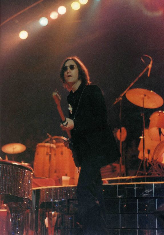 #JohnLennon on stage at Madison Square Garden, New York City, 1974