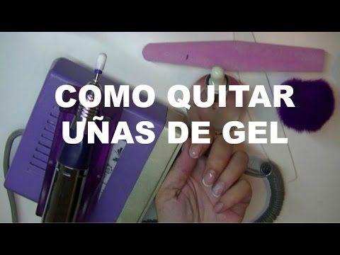 Paso a Paso Como Retirar Uñas de Gel / Gel Nails - YouTube