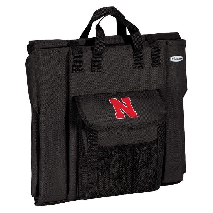Portable Stadium Seats NCAA Nebraska Cornhuskers Black