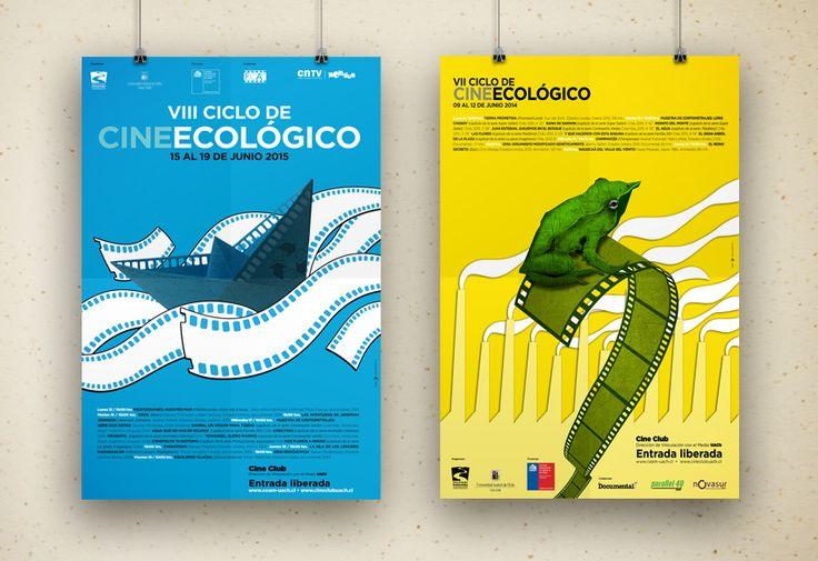AFICHES VIII  y VII versiones Ciclo de Cine Ecológico Cine Club UACh / CEAM