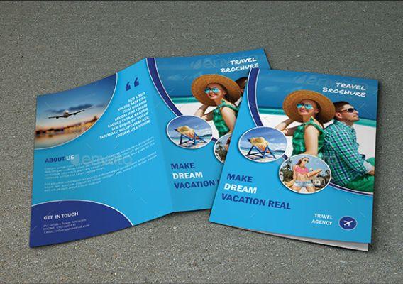 Tri Fold Travel Agency Brochure Template   Travel Brochure