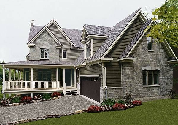 9 best images about house plans with daylight or walkout for Half basement house plans