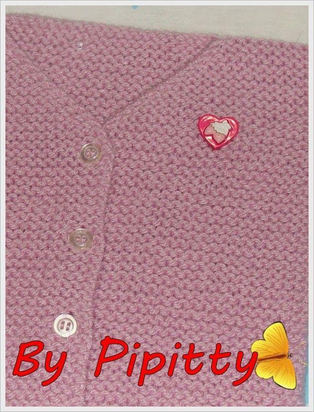 Este casaquinho, bem facinho de tricotar, foi feito com 3 novelos de lã Família e agulha 5. Montar 44 pontos para iniciar as costas...