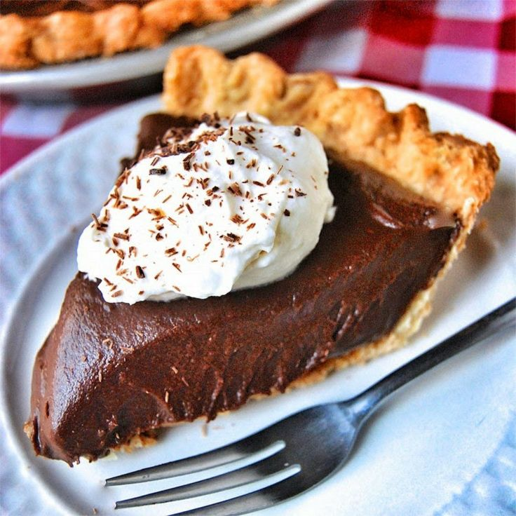 Chocolate Cream Pie ~ A true diner classic, Chocolate Cream Pie is a head-turning treat, and just the thing for lovers of both chocolate and pie. The crust is blind-baked, then filled with a cooked, cooled chocolate filling. Topped with lightly sweetened whipped cream, it's the perfect combination of crispy crust, dense chocolatey filling, and ethereal cream garnish. .