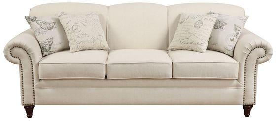 cream leather sofa - Google Search