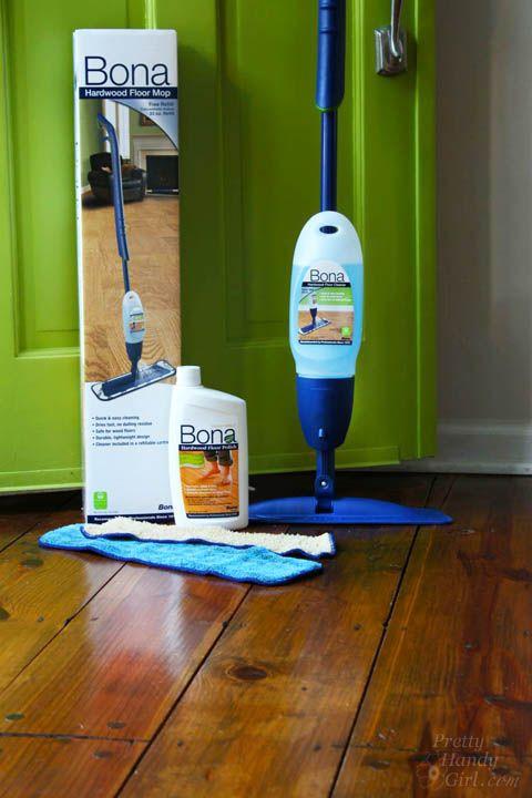 Bona Floor Polish.   How to Refinish Wood Floors without Sanding | Pretty Handy Girl