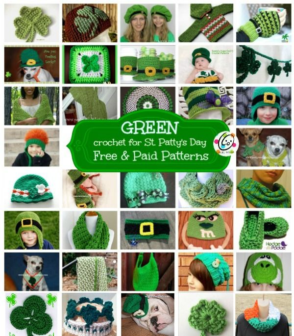 To make sure you have something green to wear on St. Patrick's Day so you won't get pinched, here are some fun patterns from awesome designers. Links to the Patterns Some are free, some are paid, A...