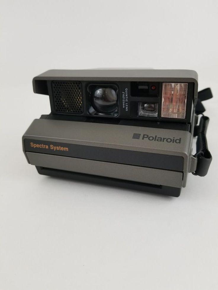 Polaroid Spectra System Instant Camera w/ Shoulder Strap Very Clean  #Polaroid