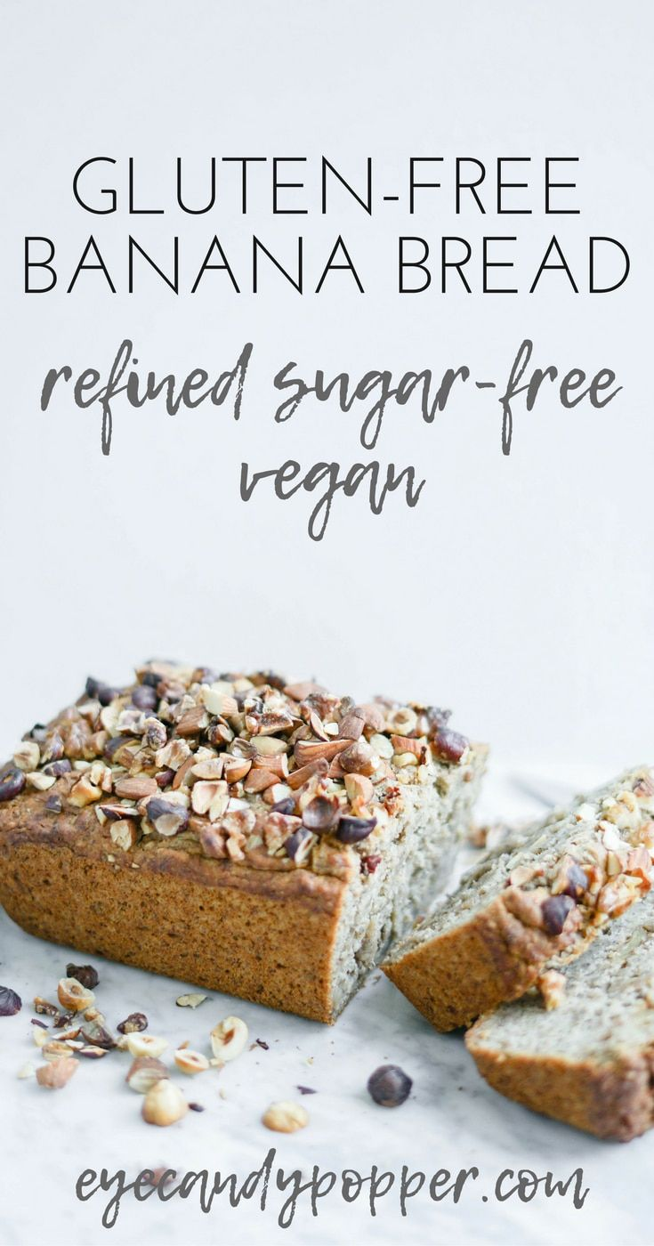 #GlutenFree Maple #Banana Bread | #Vegan Refined #SugarFree #dessert #breakfast via @eyecandypopper