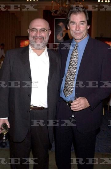 Timothy photographed with Alexi Sayle at the Hallmark Film party at  Claridges Hotel 28 Apr 2000.