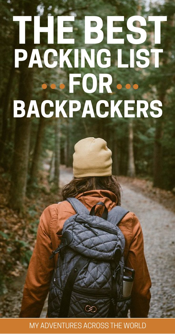 My adventures across the world You saved to My adventures across the world The Ultimate packing List for Backpackers. Leaving with everything you need (and not more!) helps make yout trip successful. Learn what to pack for backpacking trip | What to pack backpacking Europe | What to pack backpacking South America | What to pack backpacking Thailand - via @clautavani