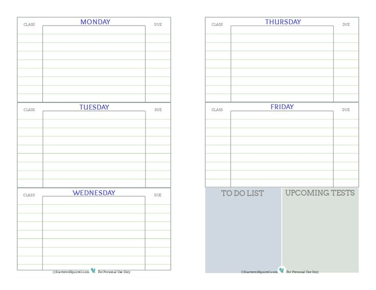 Student Agenda Template Free Printable Student Planner, Designed - school agenda template