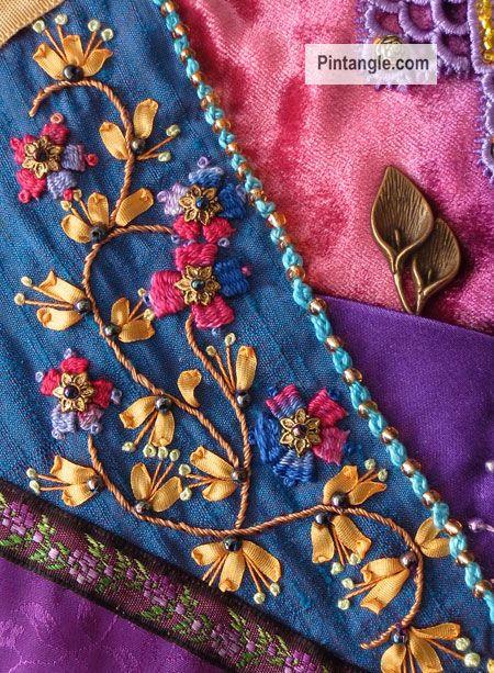 Trellis stitch sample