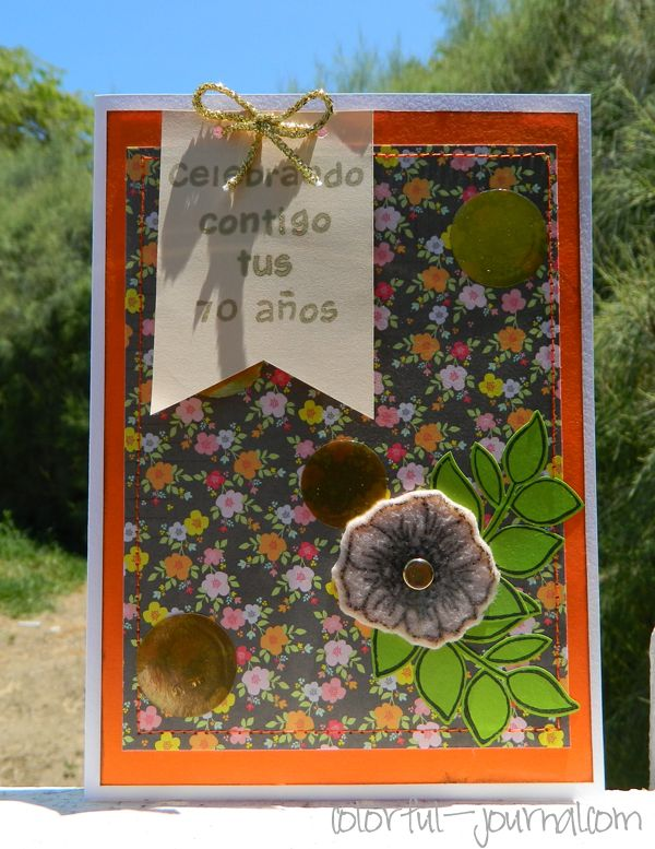 A requested 70th Birthday Card #cardmaking using Harold's ABCs stamp set