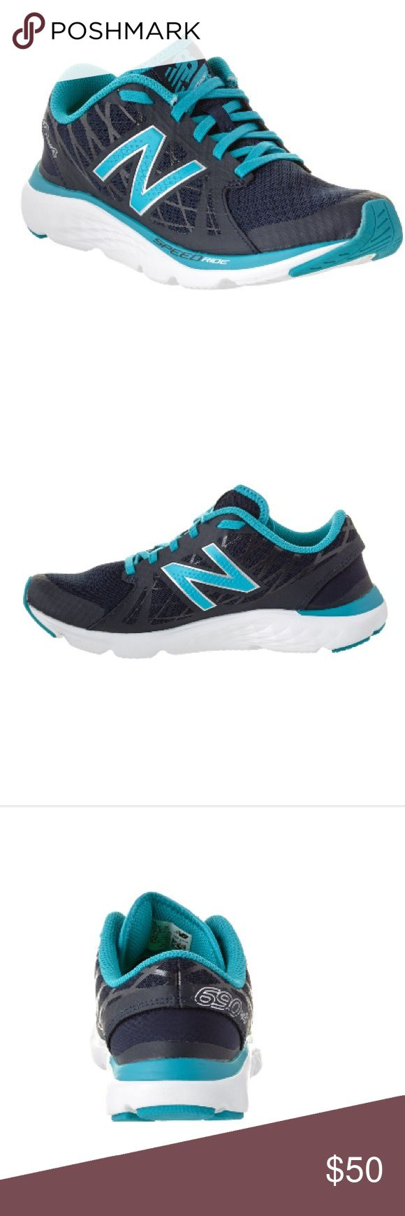 New Balance 690V4 With streamlined rubber in the heel and a sleek, seamless forefoot design, this ultralight running shoe offers freedom, fit and function to help you be fastest. Features: Breathable Mesh EVA Midsole Foam and Rubber Outsole Ground contact EVA (Ethyl Vinyl Acetate) foam for cushioning IMEVA (injection-molded EVA foam) midsole for firm yet flexible cushioning No-sew material application Rubber outsole Seamless Sock Construction Synthetic/mesh upper New Balance Shoes Athletic…