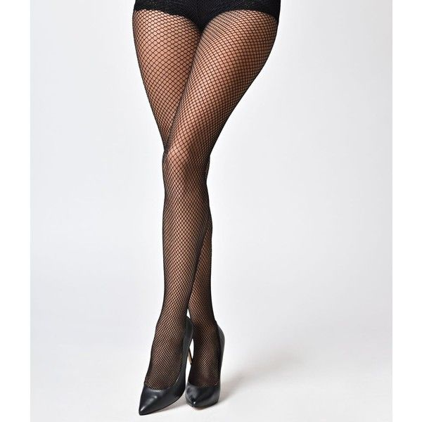Leg Avenue Black Fishnet Pantyhose (14 NZD) ❤ liked on Polyvore featuring intimates, hosiery, tights, multicolor, colorful stockings, pantyhose stockings, multi coloured tights, leg avenue and retro stockings