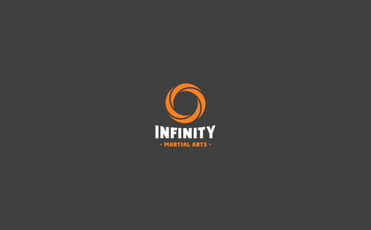 Infinity Martial Arts Logo & Identity Design on Behance by graphic designer & illustrator Catherine Uvarova. #branding #tshirt #inspiration #corporate #visual #identity #logo #martial #art #design #black #orange #tangerine #mobius