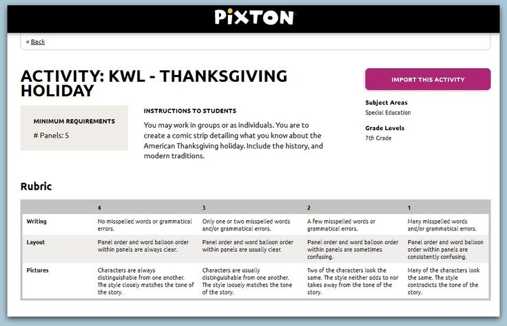 Hey #PixtonEDU teachers! Here's our Comic of the Week (#COTW)! This weeks theme: Thanksgiving! Gobble! Gobble!