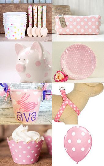 Pretty Pink Polka Dots by Cherise Carter on Etsy--Pinned with TreasuryPin.com