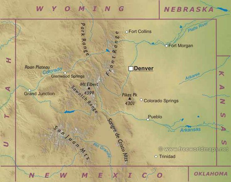 Колорадо штат : флаг штата Колорадо Колорадо (англ. Colorado) — штат на западе центральной части США, один из так называемых Горных штатов. Колорадо граничит со штатами Вайоминг и Небраска (на севере), Канзас (на востоке), Оклахома, Нью-Мексико и Аризона (на юге), Юта (на западе)...