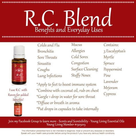 young living rc essential oil uses - Google Search                                                                                                                                                                                 More