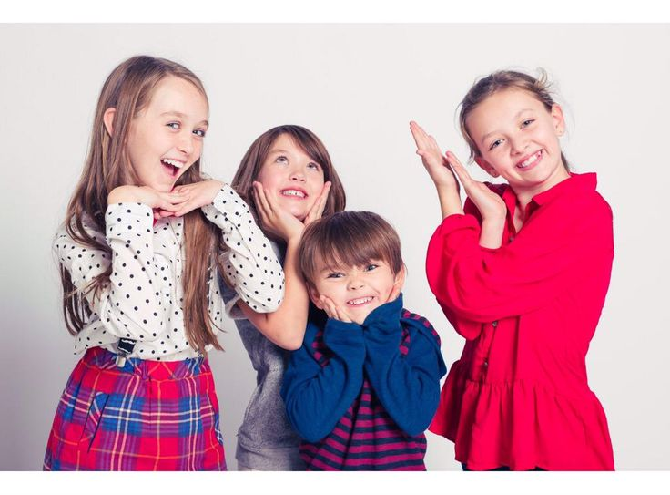 Jep and Jessica's children Lily, Priscilla, River, and Merritt