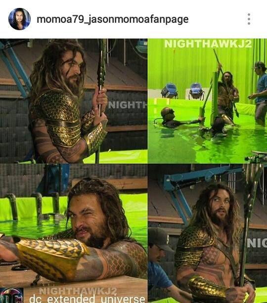 Jason Momoa Salary For Aquaman: Jason As Aquaman On The Set Of JL Part One.