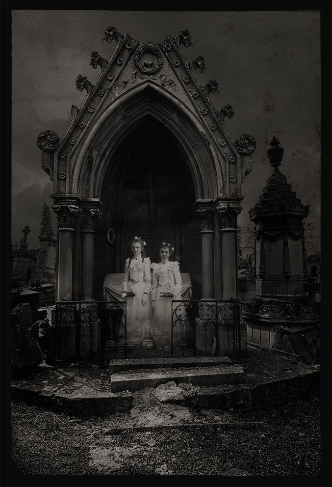 Gothic, Cemetery, Friedhof, Collage