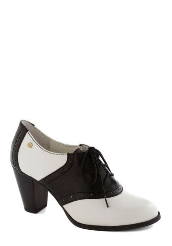 1950s Shoes Saddle Oxfords #1950sfashion  - Ode to the Optimist Heel from ModCloth $127.99