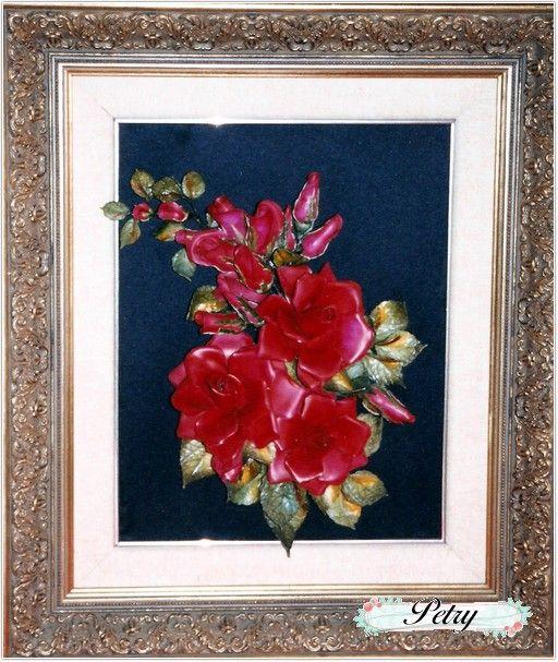 Cuadro rosas de maicena