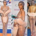 Rihanna: La cantante delle Barbados provocante ai CFDA Awards