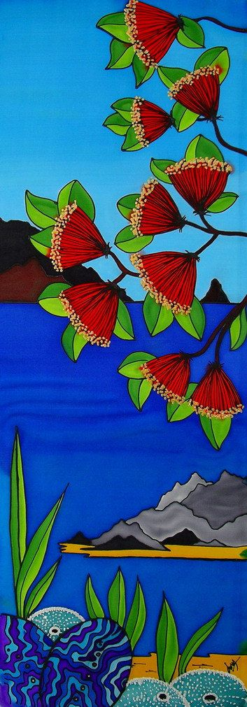 Canvas art print Waipu Cove with beautiful bright by JoMayDesign, $85.00