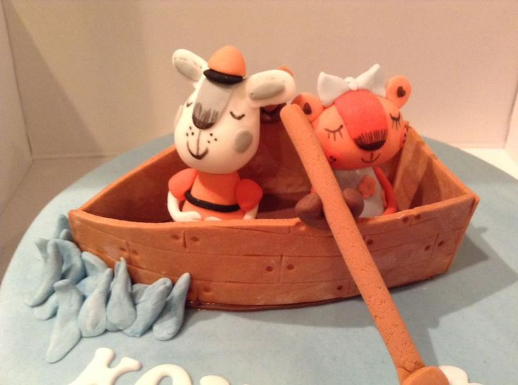 Row Row Your Boat Little Animals modelled by Coast Cakes Ltd