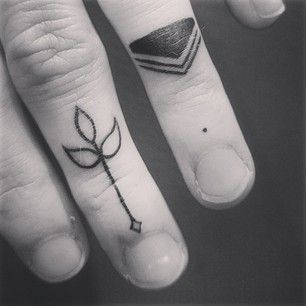 26 Simple And Striking Dotted Finger Tattoos