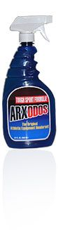 Arxodos odor-elimination spray - NEED this! Check out the review (linked) for this as well as MiraZyme enzyme cleaner. The only way to remove serious 'sport funk' (think hockey/football equipment, Vibram-soled shoes, etc.)