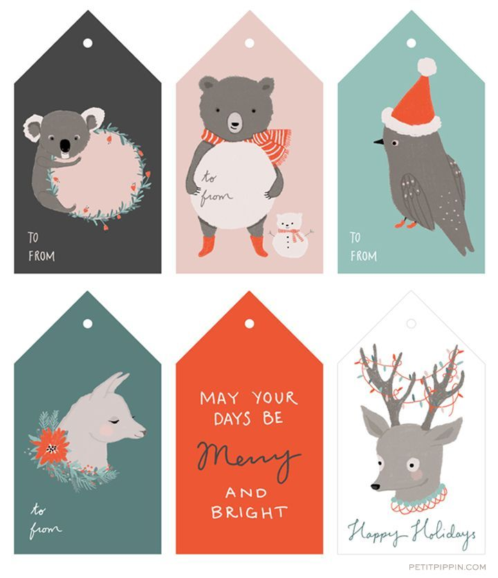 FREE Printable Holiday Christmas Tags. These little woodland themed tags are simply adorable and will look so cute on the Christmas gifts this year. Plus, DIY tags is a great money saving idea!
