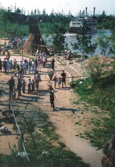 Indian Village - Disneyland . Extinct Attraction .  1956-1971