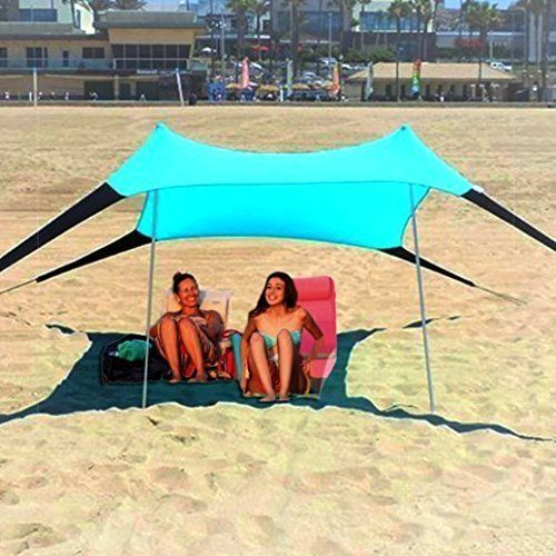 Beach Shade Tent Canopy Portable Easy Pop Up Stretch Fabric Camping Sun Shelter #BeachShadeTentCanopy