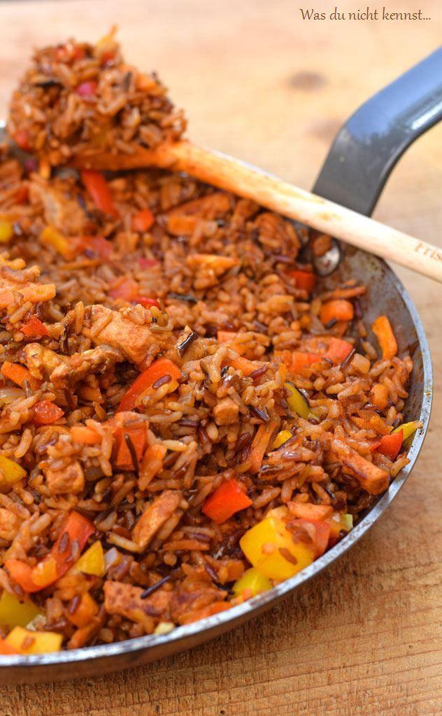 Ihr habt zu viel Reis gekocht? Ihr mögt gerne Curry? Ihr müsst noch etwas Fleisch verarbeiten? Dann kocht euch gebratenen Curry-Reis