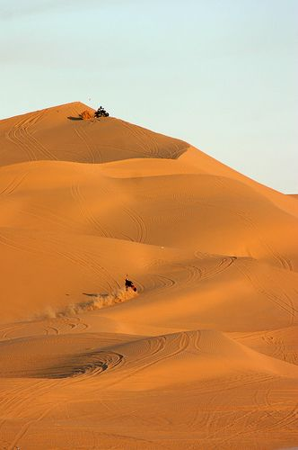 Sand Dunes - Yuma, Arizona. George  chose this place to film the Tatooin scenes in Star Wars.