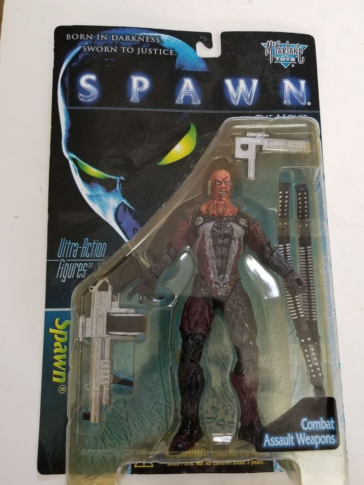 Spawn The Movie UNMASKED SPAWN Ultra Action Figure #3 McFarlane Toys 1996 New #McFarlaneToys #spawn