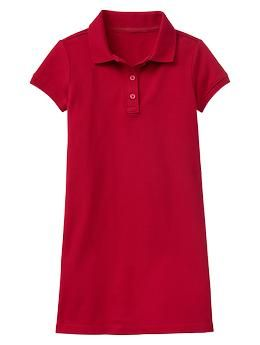 Polo dress - GapKids uniforms are better than ever. Now in NEW modern fits, softest fabrications and cool-kid prints + colors.
