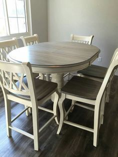 """Nicole Adams - I sanded the top down first. Then stained with 2 coats of General Finished Gray Gel Stain, a day apart. Allowed to dry for 3 days. Then brushed on (with a 6"""" wide brush) General Finishes white glaze, then wiped it along the grain with Scot shop towels. Then did the same with their brown glaze. Followed by a few touch ups with both glazes and the stain. After another couple days, I applied Modern Masters Masterclear in matte finish."""