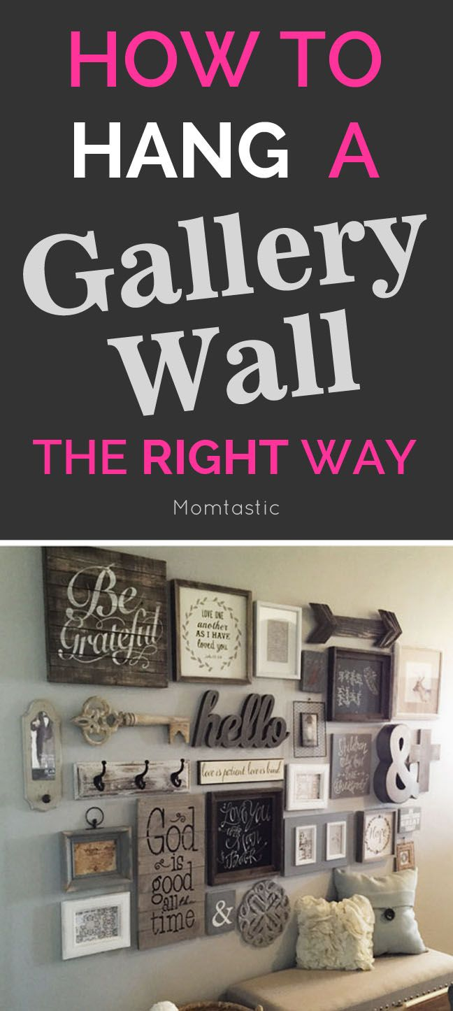 Best 25 diy wall decor ideas on pinterest diy interior art dyi how to hang a gallery wall the right way amipublicfo Image collections